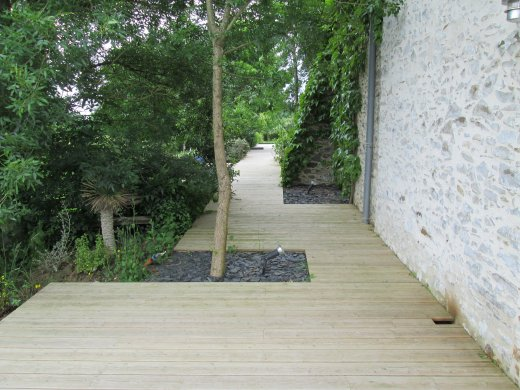 Terrasse en bois à St Laurent du Mottay (49)