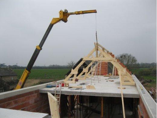 Construction d'une charpente à Champtocé sur Loire (49)