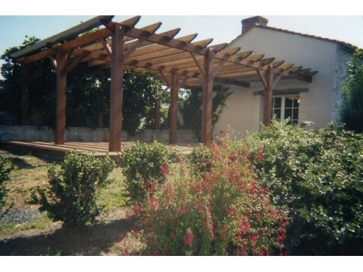 Fabrication d'une pergola à St Laurent du Mottay (49)