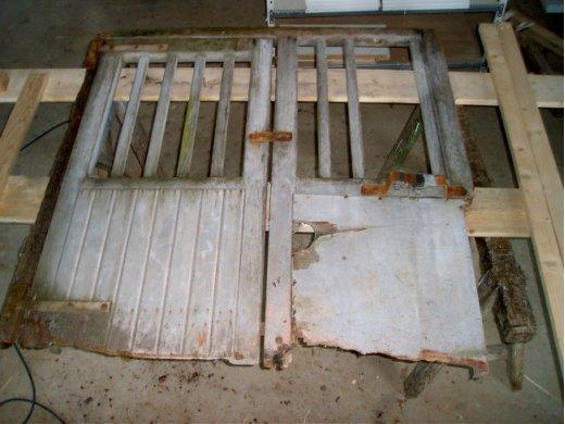 Restauration d'un portail à Chaudron en Mauges (49)